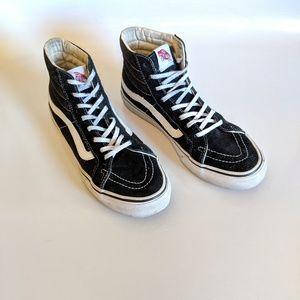 Vans Sk8 Hi Black Suede High Top Sneakers Size 8.5